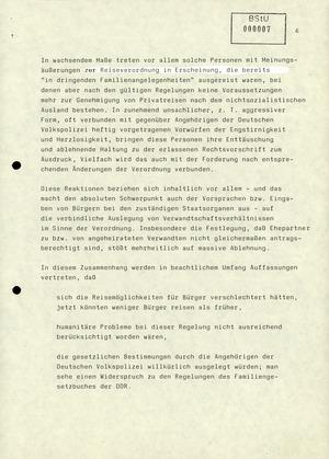 """Reaktionen der DDR-Bevölkerung auf die erste offizielle """"Reiseverordnung"""""""