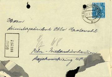 Brief von Hertha Barczatis an Otto Grotewohl über ihre Schwester Elli
