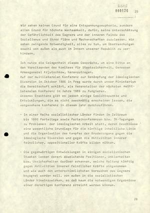 Notiz über die Besprechung zwischen Minister Mielke mit dem stellvertretenden Vorsitzenden des KfS
