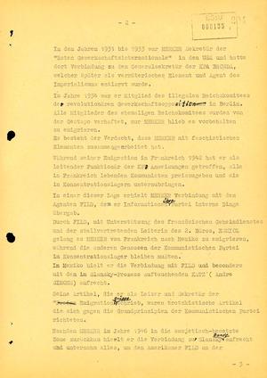 Sachstandsbericht zum Untersuchungsvorgang Paul Merker