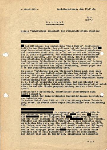 Bericht über die Polizeidirektion Augsburg