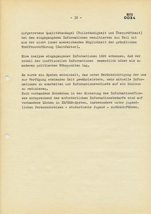 """Abschlussbericht zur Aktion """"Konfrontation"""" anlässlich des DDR-Besuchs von Willy Brandt"""