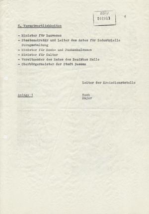 Information zur Planung des 60. Jahrestages und Perspektive des Bauhaus Dessau