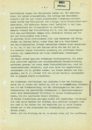 Bericht zur Selbstverbrennung von Pfarrer Oskar Brüsewitz in Zeitz