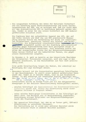 Entwurf der Rücktrittserklärung von Schwanitz