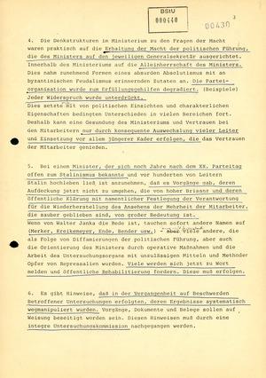 Markus Wolf über eine Reform des Ministeriums für Staatssicherheit