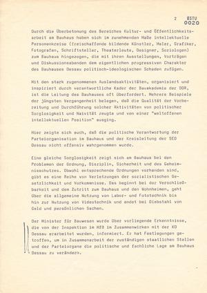 Das Bauhaus in Dessau im September 1989