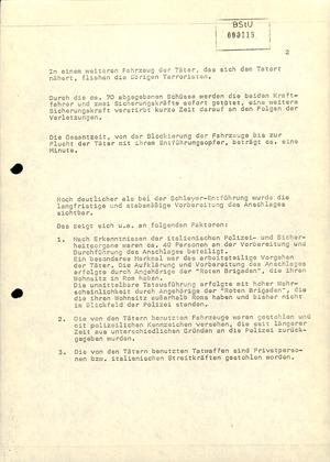 Vergleich der Entführungen von Hanns Martin Schleyer und Aldo Moro