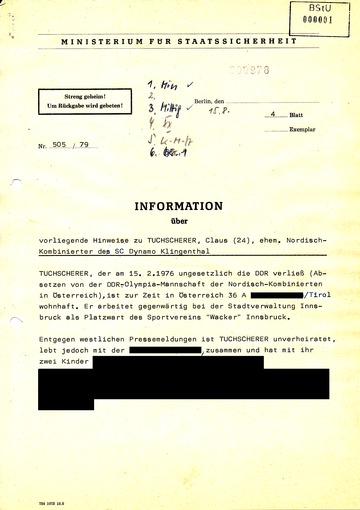 Information über Hinweise zu Klaus Tuchscherers Leben in Österreich