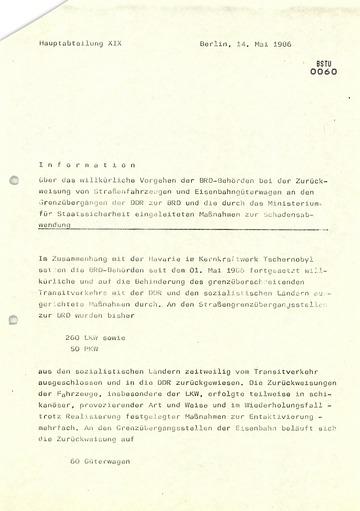 Anweisung von Schwanitz zur Außerkraftsetzung von Richtlinien und Dienstanweisungen