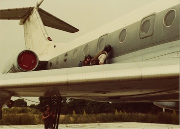 Ausbildung von Antiterroreinheiten an einem Passagierflugzeug vom Typ Tupolew Tu-134