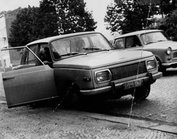 Robert Havemann im Auto mit Wolf Biermann