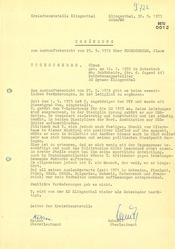 Egänzung zum Auskunftsbericht über Klaus Tuchscherer