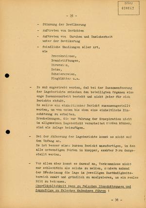 "Dokumentation zur Aktion ""Festigung"""