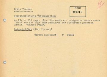 """""""Hetzschrift"""" mit Bezug zum Ungarnaufstand im Kreis Torgau"""