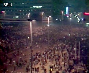Montagsdemonstration im Stadtzentrum von Leipzig