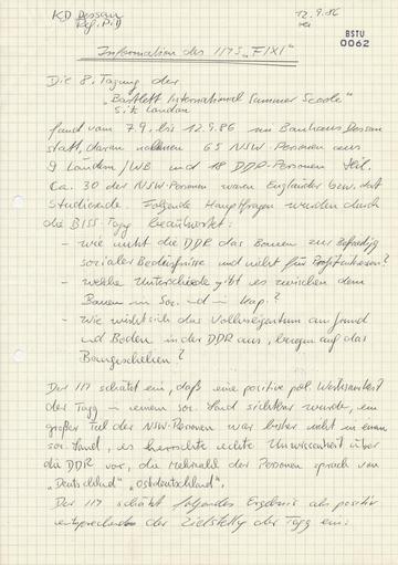 """""""Fixi"""" - ein IM in Schlüsselposition im Bauhaus Dessau"""