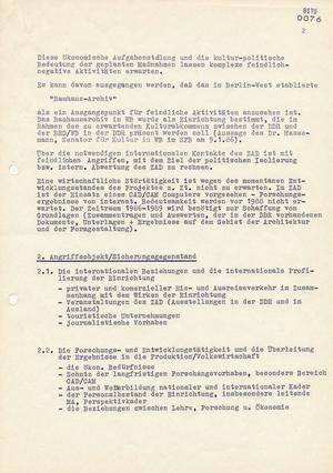 Vorläufige Konzeption zur Sicherung des Bauhauses Dessau