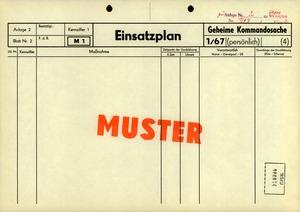 Direktive 1/67 zur Mobilmachung des Ministeriums für Staatssicherheit
