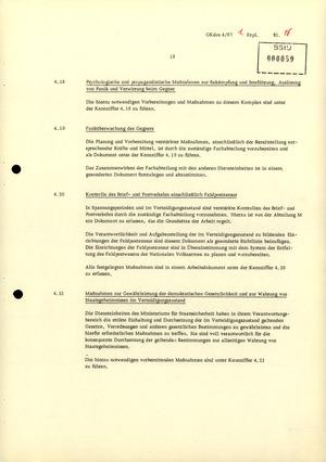 Durchführungsbestimmung Nr. 1 zur Direktive 1/67 über die spezifisch-operative Mobilmachungsarbeit im MfS
