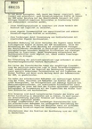 Schreiben Mielkes an die Leiter der Diensteinheiten zur Veröffentlichung des KSZE-Dokuments