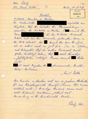 """Bericht von IMS """"Ernst Wilke"""" über Unregelmäßigkeiten in einem Hotel in Aachen"""