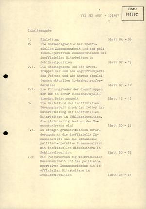 """Diplomarbeit: """"Aufgaben eines Leiters der Hauptabteilung I im Umgang mit IMs"""""""
