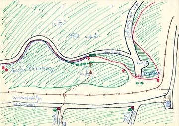 """Karte zur Grenzschleuse """"Wurzel"""""""