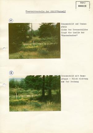 """Bilderserie zur Grenzschleuse """"Wurzel"""" im Harz"""