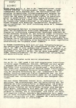 Minister Mielke zum weiteren Vorgehen nach der Stasi-Razzia in der Zionskirche