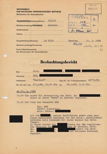 Bericht über die Beobachtung einer Delegation der RWTH Aachen beim Besuch in Dresden