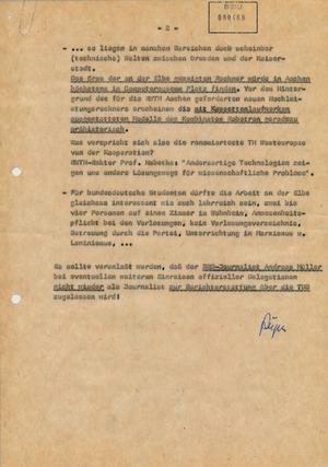 Bewertung von Zeitungsartikeln über den Besuch einer Delegation der RWTH Aachen in Dresden