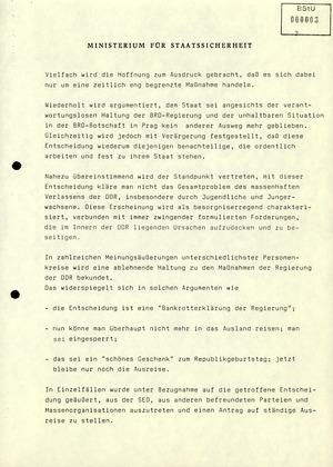 Reaktionen der DDR-Bevölkerung und Vorkommnisse anlässlich der zeitweiligen Aussetzung des pass- und visafreien Reiseverkehrs in die Tschechoslowakei