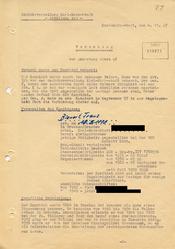"""""""Vorschlag zur Anwerbung"""" eines ehemaligen Gestapo-Angehörigen als """"Geheimer Informator"""""""