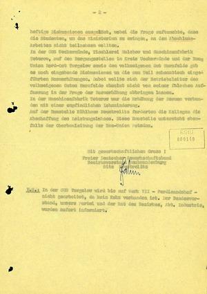 Bericht des FDGB-Parteivorstandes über den Volksaufstand im Bezirk Neubrandenburg