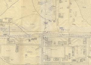 Planzeichnung eines Lagers für DDR-Flüchtlinge auf der Insel Borkum