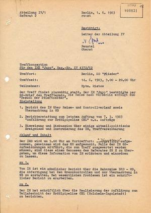 """Treffkonzeption für den IMS """"Jupp"""""""