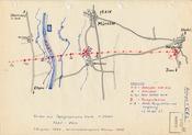 Skizze vom Verlauf der Central European Line bei Münster