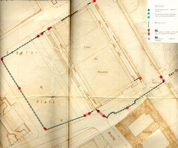 Karte des Marx-Engels-Platzes mit dem Palast der Republik