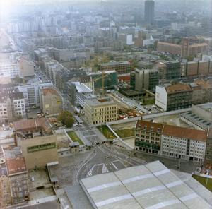 Luftbildaufnahmen der Grenzübergangsstelle Friedrichstraße und des Checkpoint Charlie