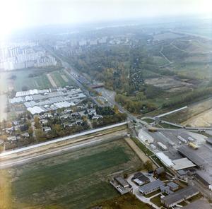 Luftbildaufnahmen der Grenzübergangsstelle Staaken an der Heerstraße