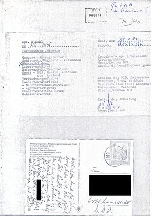 Abgefangener Brief von Klaus Tuchscherer