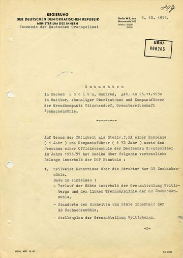 Gutachten über den Wissensstand Manfred Smolkas