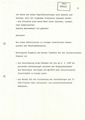 Rede von Mielke zur Unterzeichnung des Abschlussdokuments des KSZE-Folgetreffens in Wien