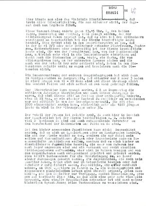 "Bericht des IMB ""Reiner Martens"" zum Kirchentagskongress in Wittenberg 1983"