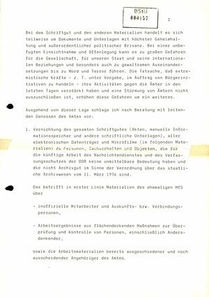 Schreiben von Schwanitz an Modrow über die Auflösung der Kreisämter