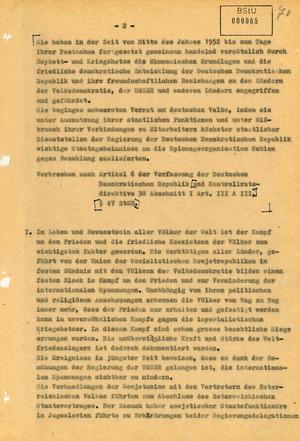 Anklageschrift gegen Karl Laurenz und Elli Barczatis