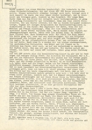 Gedächtnisprotokolle - Tage und Nächte nach dem 7. Oktober 1989 in Ost-Berlin