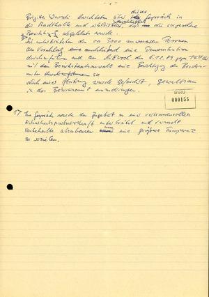 Entwurf eines Fernschreibens des Leiters des AfNS-Bezirksamtes Suhl Generalmajor Gerhard Lange
