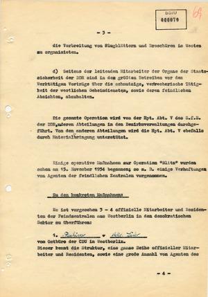 """Plan zur Operation """"Blitz"""""""